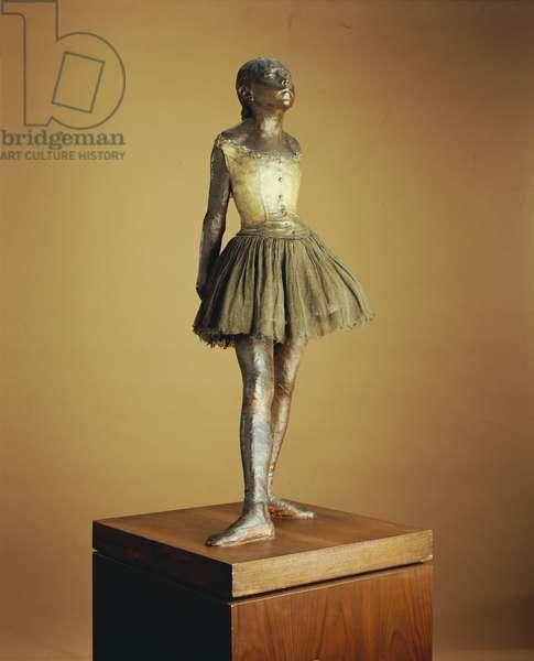 Little Dancer of Fourteen Years, 1879-81, cast 1921 (polychromed bronze, muslin, satin & wood)