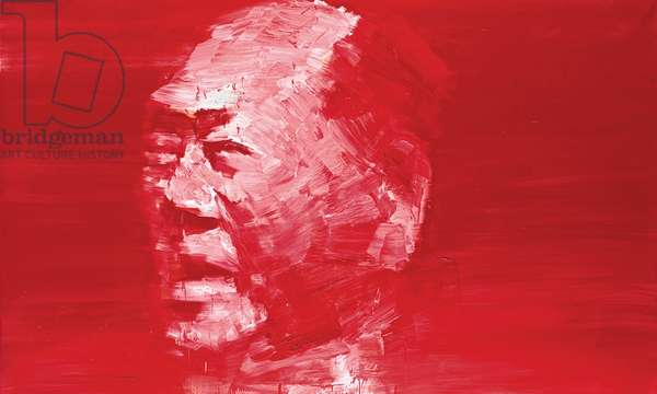 Mao, Chinese Vermilion #1, 2001 (oil on canvas)