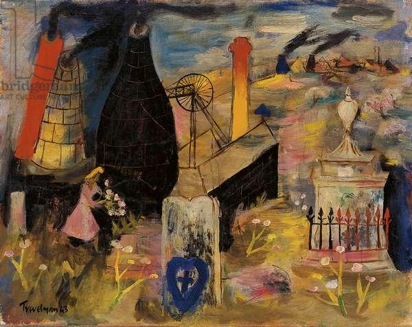The Churchyard, 1943 (oil on canvas)