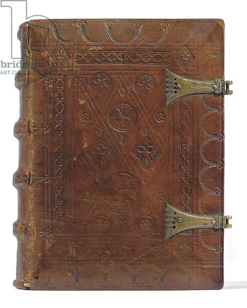 Book of Hours and Prayerbook in Dutch, Lower Rhineland, Emmerich, Cleves, c.1480 (ink & pigment on vellum & paper, bound in calfskin over boards with metal clasps)