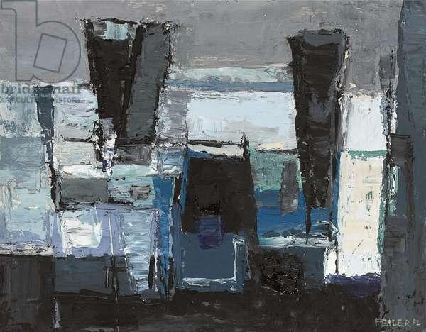 Winter Rocks, 1952 (oil on board)