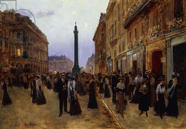 La Rue de la Paix,  (oil on canvas)