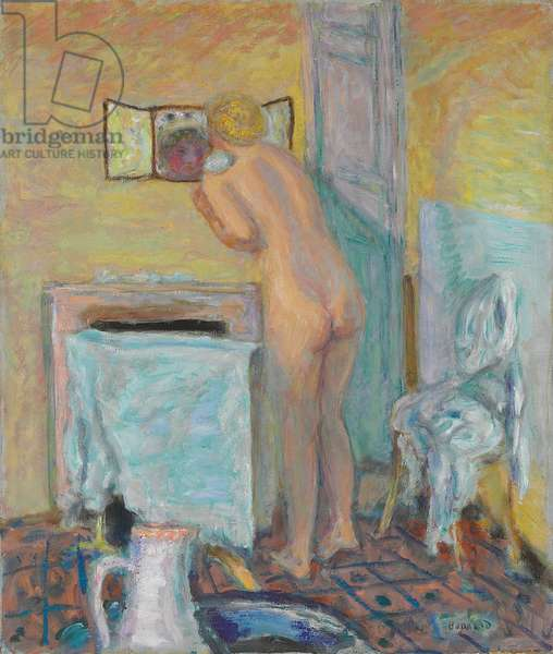 Nude Before the Mirror or Bather; Nu devant la glace ou Baigneuse, 1915 (pastel on paper)
