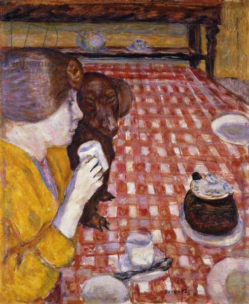 Yellow and Red (The Red Chequered Tablecloth); Jaune et Rouge (La Nappe aux Carreaux Rouges), 1915 (oil on canvas)