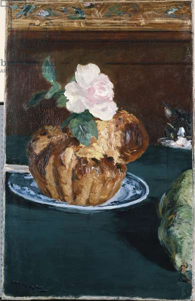 Still Life with Brioche, c.1880 (oil on canvas)