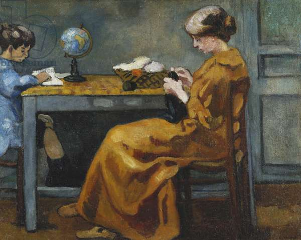 After School; Apres l'Ecole, c. 1916 (oil on canvas)