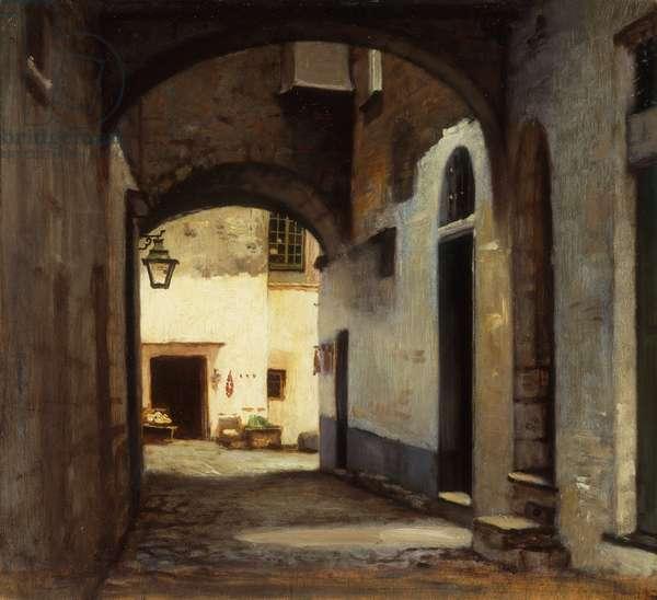 San Remo, (oil on panel)