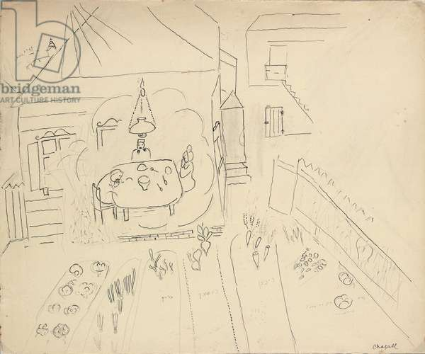 The imaginary meal next to the vegetable garden, 1925