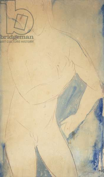 Young Nude Boy; Jeune Garcon Nu, 1914 (watercolour and pencil on paper)