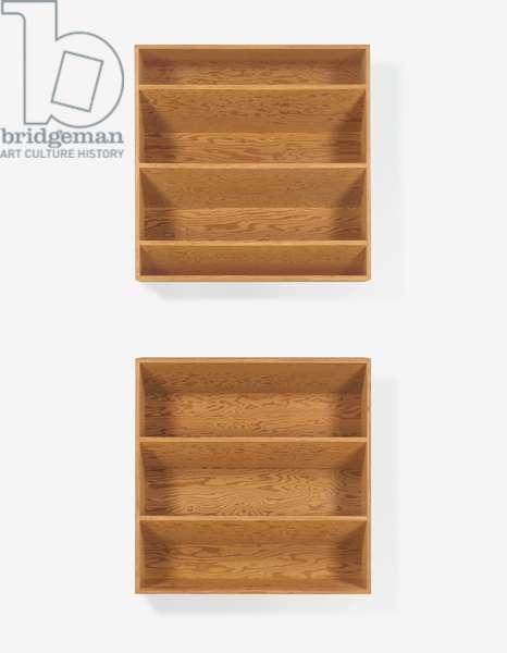 Untitled, 1984 (84-85 Ballantine), 1984 (Douglas fir plywood; two units)