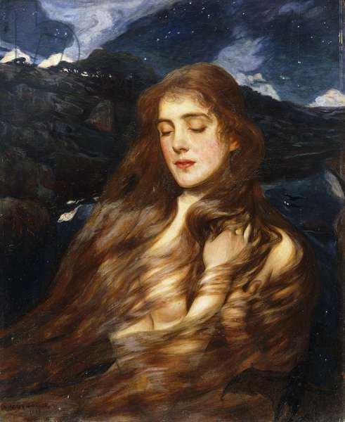 Night, 1897 (oil on panel)