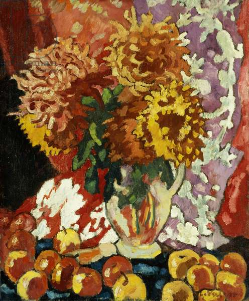 Flowers and Apples; Fleurs et Pommes, 1938 (oil on canvas)