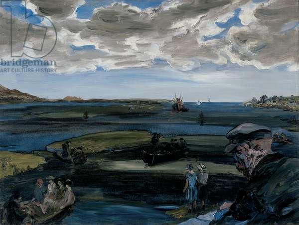High Spring Tide (Rosses Point, Sligo), 1924 (oil on canvas)