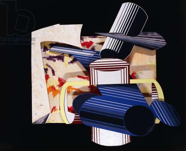 The Halved; Il Dimezzato, 1984 (mixed media on canvas, etched magnesium, aluminium and fibreglas)