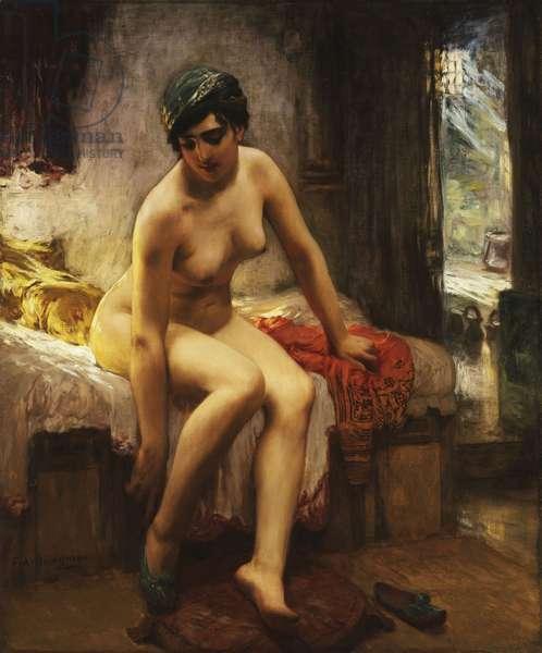 An Algerian Prostitute,  (oil on canvas)