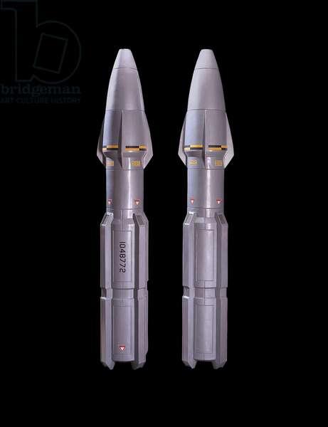 Enterprise torpedoes, props featured in the NX-01 Armory set of 'Star Trek: Enterprise', c.2001 (fibre-reinforced cast resin)
