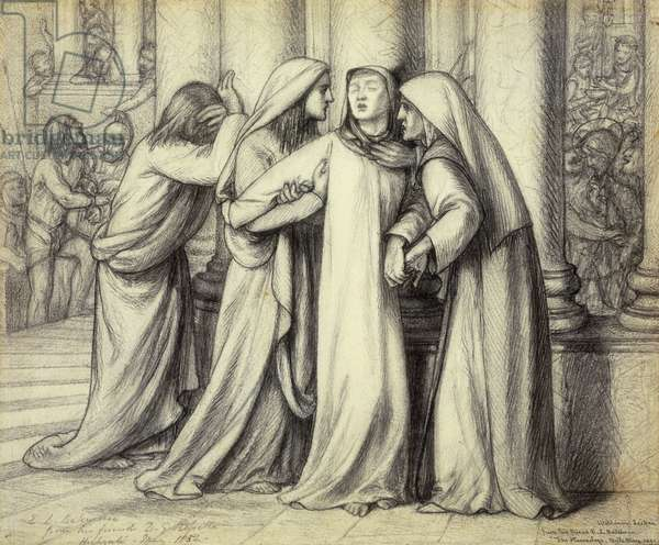 The Virgin Mary being Comforted, 1891 (pencil on paper)