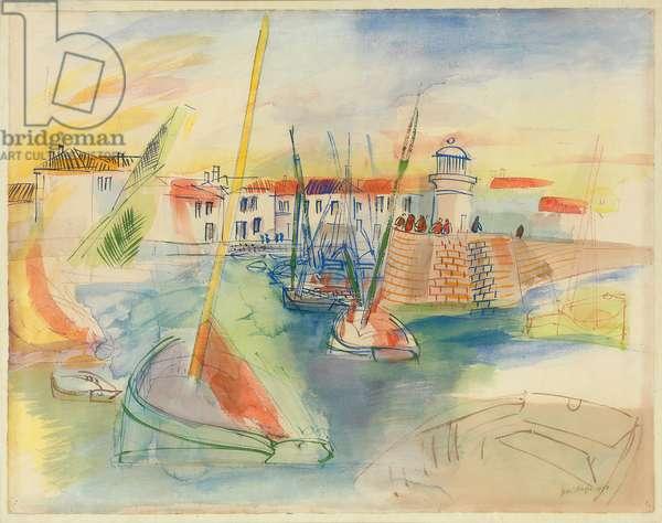 Ile d'Yeu, 1928 (watercolour on paper)