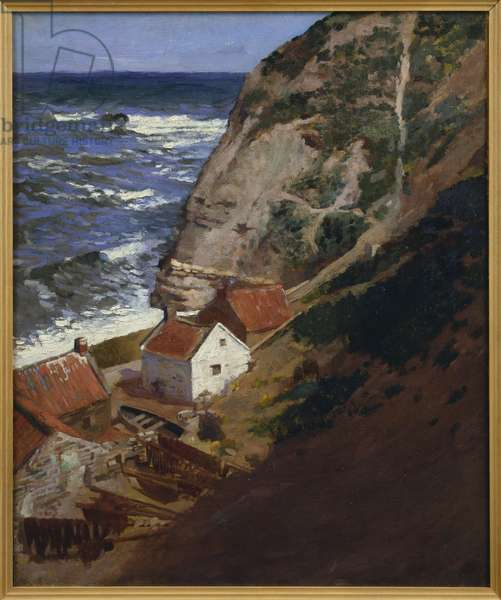 Staithes, Yorkshire, 1900 (oil on canvas)