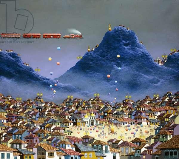 Celebration in the Andes; Celebracion en los Andes, 1988 (acrylic on canvas)
