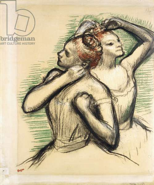 Two Dancers, c.1897 (pastel and charcoal on paper)
