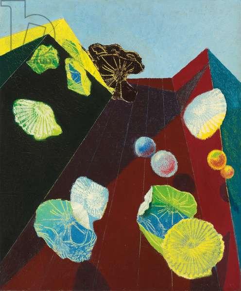 Interior and Landscape; Interieur et paysage, 1934-1935 (oil on canvas)
