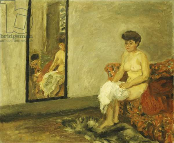 Nude Sitting on a Red Chair; Nu Assis dans une Chaise Rouge, 1908 (oil on canvas)