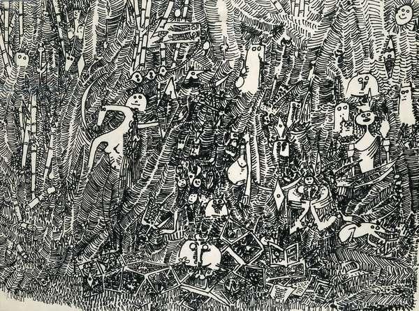 La Selva, 1981 (felt tip and pencil on Japanese paper)
