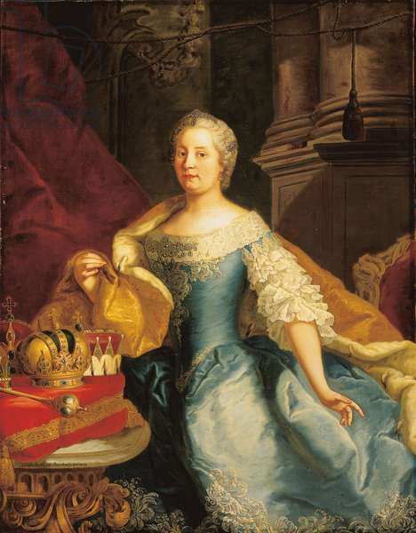 Portrait of Empress Maria Theresa, 1749 (oil on canvas)
