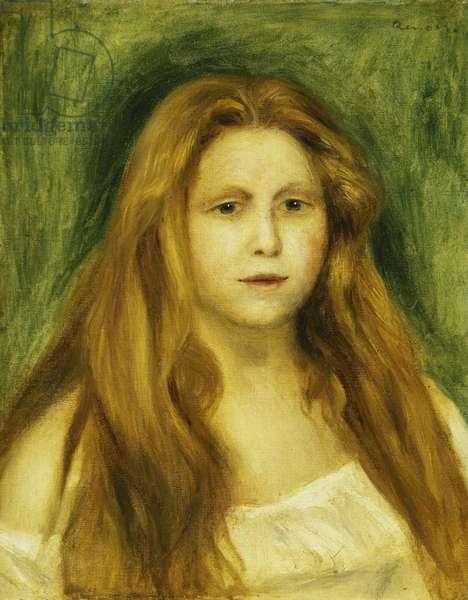 Head of Girl; Tete de Jeune Fille, 1888 (oil on canvas)