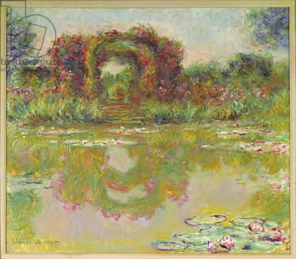 The arches of roses, Giverny (The flowering arches), 1913 (oil on canvas)