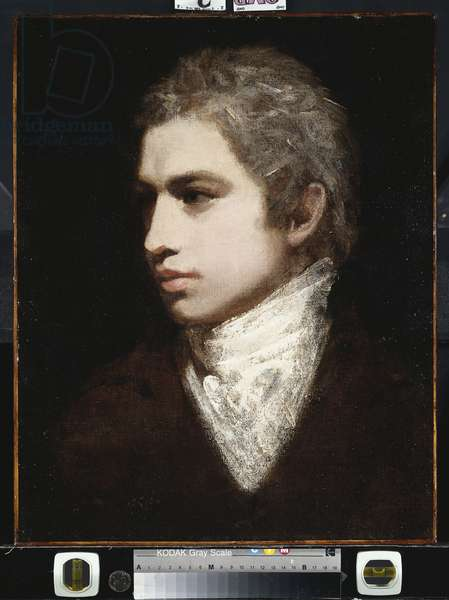 Portrait of a Gentleman, said to be Samuel Taylor Coleridge (oil on canvas)