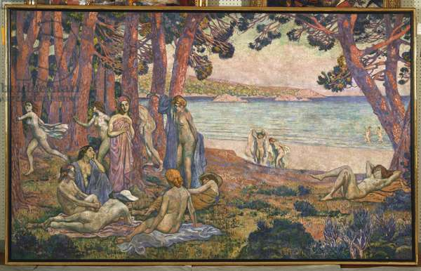 Bathers by the Sea, 1907-08 (oil on canvas)