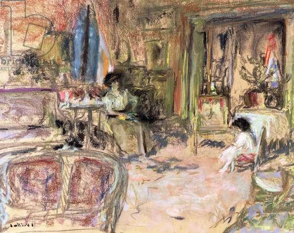 Henri et Madame Josse Bernheim,  (pastel and charcoal on buff paper)