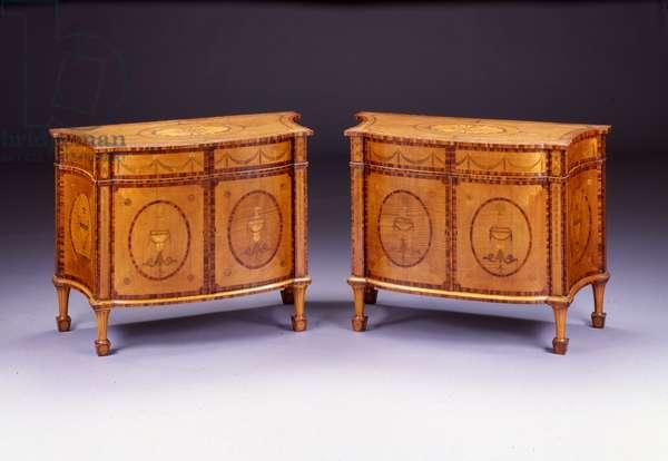 Pair of George III commodes (harewood & kingwood)
