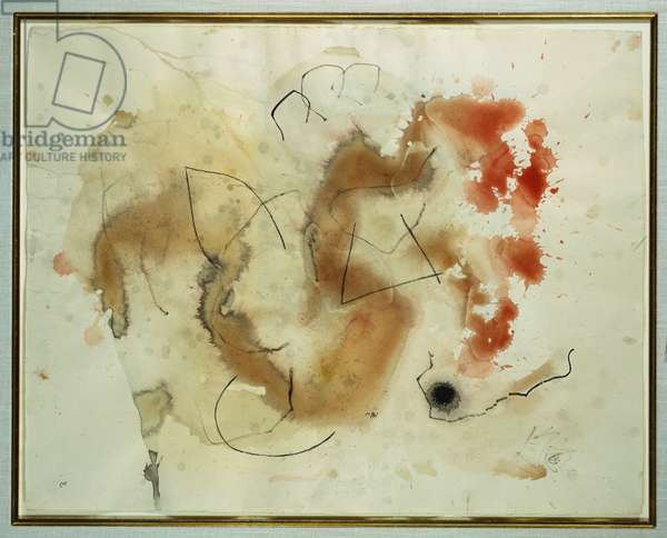 Composition, 1960 (w/c & charcoal on paper)