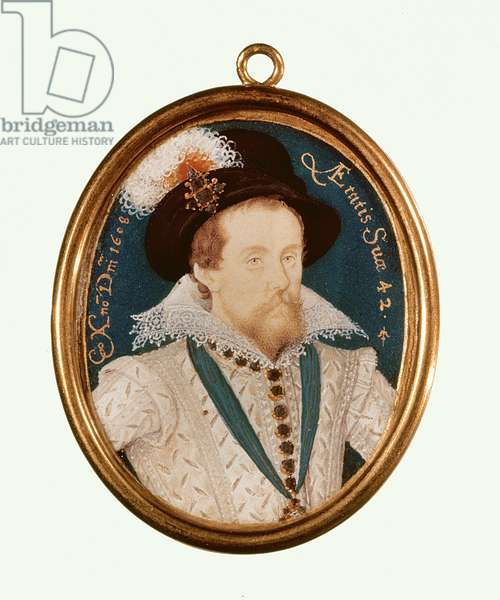 King James I (w/c on vellum)