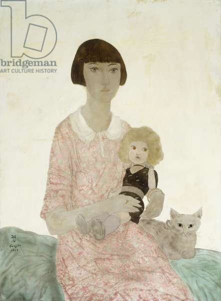 Young Girl with a Cat; Jeune Fille au Chat, 1923 (oil on canvas)