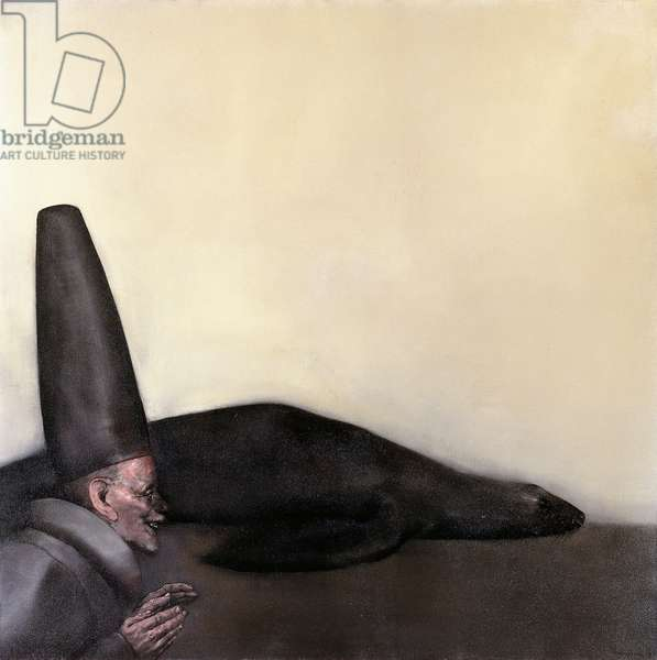 The Old Man and the Seal; El Viejo y la Foca, 1967 (oil on canvas)