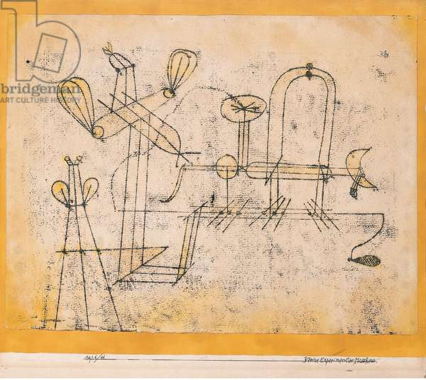 Small Experimental Machine, 1921 (watercolour, pen annd ink transfer on paper)