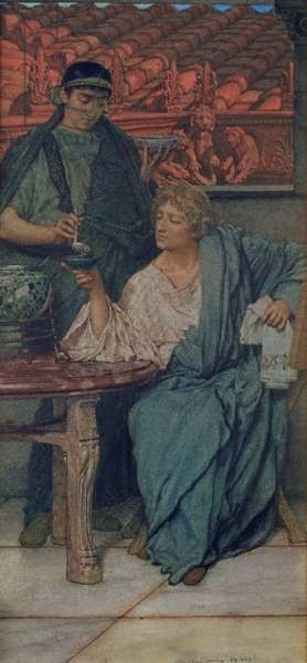 The Roman Wine-Tasters (w/c on paper)