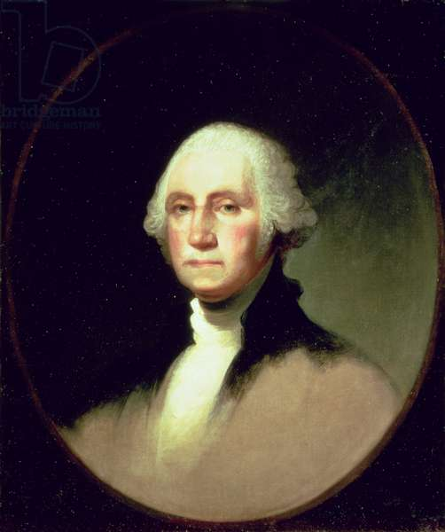 Portrait of George Washington (oil on canvas) (see 92901 for pair)