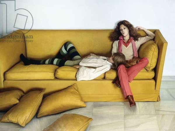 Dos Amigas, Marbella, 1978 (oil on canvas)