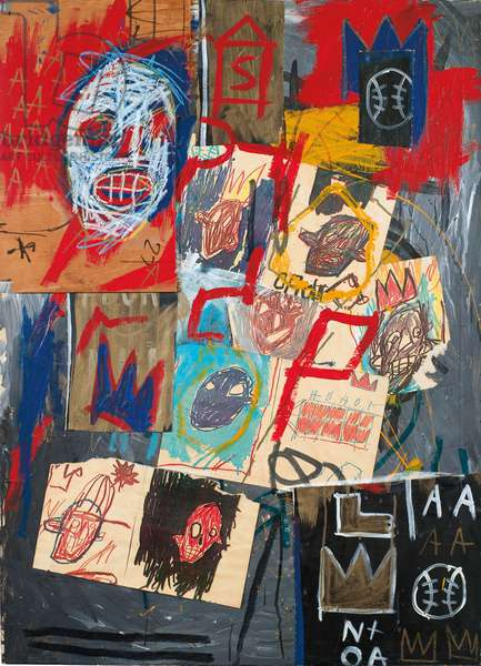 Untitled, 1981 (acrylic, oilstick and paper collage on canvas)