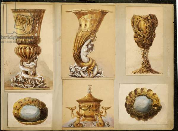 Selection of designs, House of Carl Faberge (pencil & w/c heightened with white and gold on card)