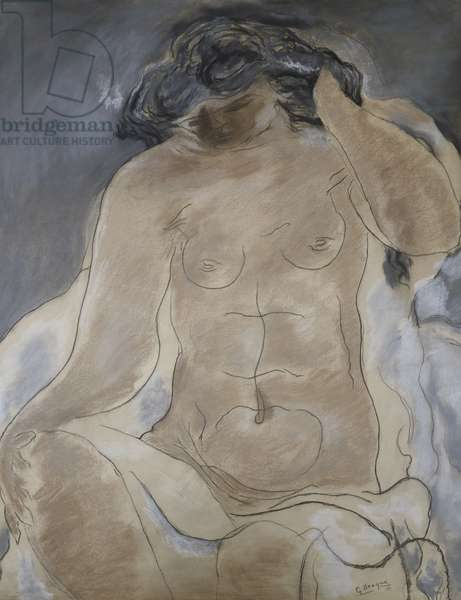 Seated Nude; Nu Assis, 1927 (pastel and charcoal on paper)