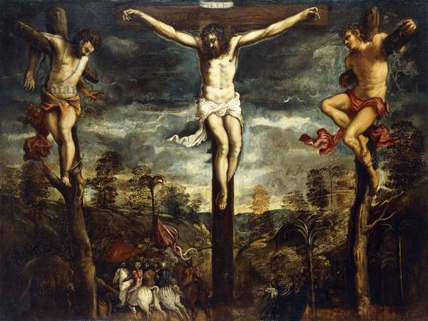 The Crucifixion, 1554-55 (oil on canvas)