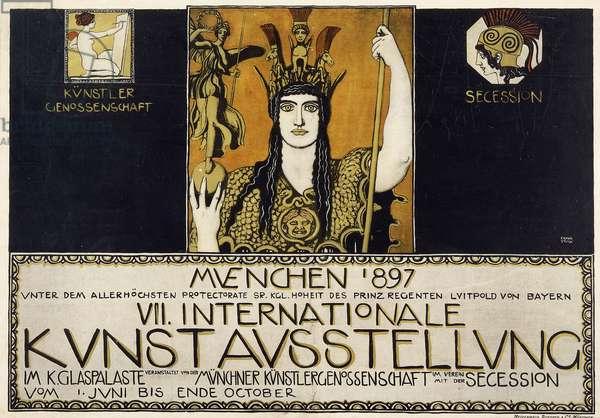 Munchen 1897, VII Internationale Kunstausstellung, 1897 (colour lithograph)