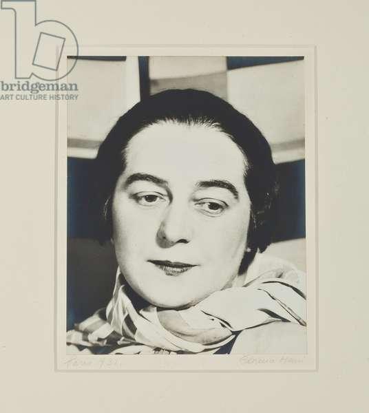 Portrait of Sonia Delaunay, Paris, 1931 (gelatin silver print)