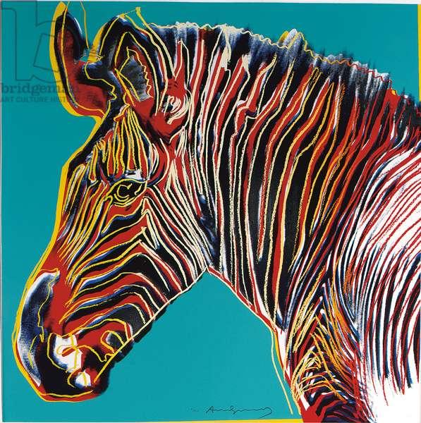 Grevy's Zebra, 1983 (screenprint)